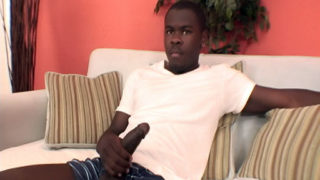 Hung black camboy exposes his meat