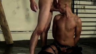 Muscle hunk bondage gay first time He's managed to take hold