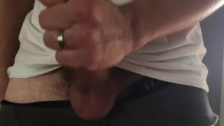 Dirty talking big cock solo masturbation cum shot