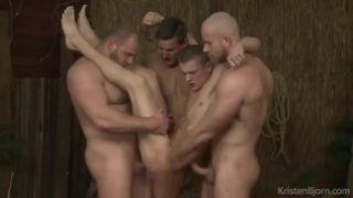 YOUNG BLOND FUCKED BY MUSCLED BEARS TRIO.mp4