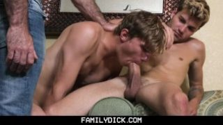 FamilyDick – Father and Son Sucks and Rides Twink?s Big Cock