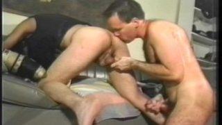 Oldschool hairy stud gay porn