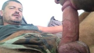TIERY B. – SUCKING FAT AND BIG HEADED COCK – EATING THICK CUM – BEAR AND TWINK – DAD AND SONNY