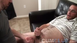 Shoot your wad in my mouth ? hairy guy's hot cum swallowed