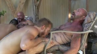 Bears boning twinks in the back yard – Factory Video