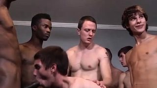 Ugly guys big cock gay sex Landon screwed and spunk drenched