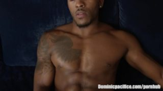 Black Stud Pheonix Fellington Works Up His Dick