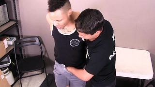 Trespassing perp gets strip searched and anal fucked