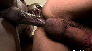 Interracial blowjob sex at office of one of these lovers