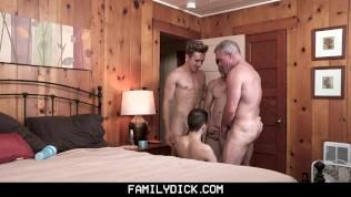 Stepgrandpa, Stepdad, And Stepbrother Rawdog A Pervy Twink?s Boy Hole